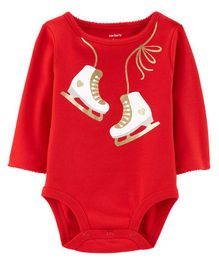 Carter's Glitter Ice Skates Collectible Bodysuit - Red