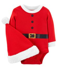 Carter's  2-Piece Santa Bodysuit & Hat Set - Red