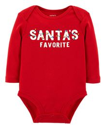 Carter's Santa's Favorite Collectible Bodysuit - Red