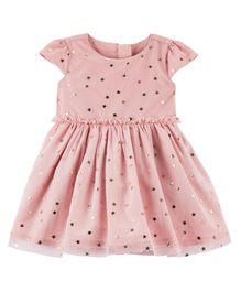 Carter's Star Tulle Holiday Dress - Pink
