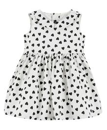 Carter's Heart Bow Holiday Dress - White Black
