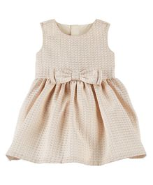 Carter's Jacquard Bow Holiday Dress - Off White