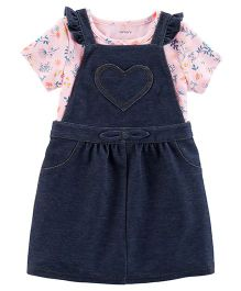 Carter's 2-Piece Dungaree Dress & Bodysuit Set - Blue