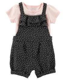Carter's 2-Piece Tee & Dungaree Set - Black
