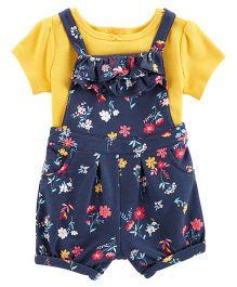 Carter's 2-Piece Tee & Dungaree Set - Navy