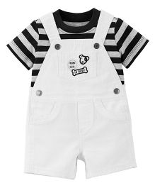 Carter's 2-Piece Tee & Shortalls Set - White