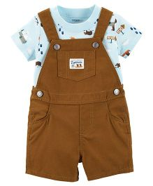Carter's 2-Piece Tee & Shortalls Set - Brown