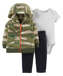 Carter's 3 Piece Little Jacket Set - Green Blue