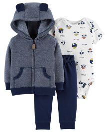 Carter's 3 Piece Little Jacket Set Blue & White