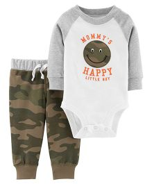 Carter's 2-Piece Bodysuit Pant Set - Off White Olive