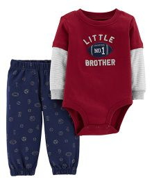 Carter's 2-Piece Bodysuit Pant Set - Maroon