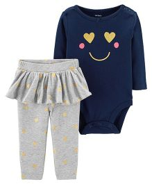 Carter's 2-Piece Bodysuit & Tutu Pant Set - Navy Blue Grey