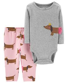 Carter's 2-Piece Bodysuit Pant Set - Grey Pink