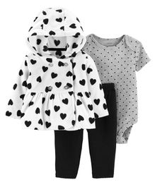 Carter's 3-Piece Little Jacket Set - White Grey Black