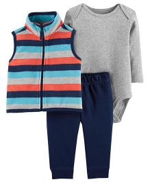 Carter's 3 Piece Vest Set - Blue Grey