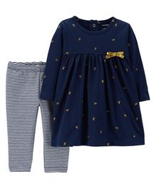 Carter's 2 Pack Dress & Leggings Set - Navy
