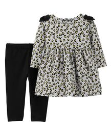 Carter's 2 Piece Dress & Leggings Set - Black & Grey
