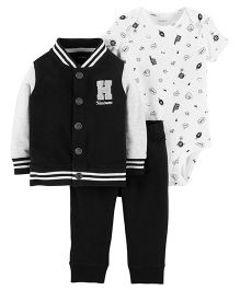Carter's 3-Piece Cardigan Set - Black