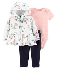 Carter's 3-Piece Little Jacket Set - Peach Ivory
