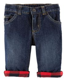 Carter's Checks Denim Jeans - Dark Blue