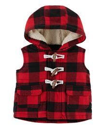 Carter's Buffalo Check Twill Flannel Jacket - Red