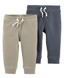Carter's 2 Pack Thermal Pants - Blue & Grey