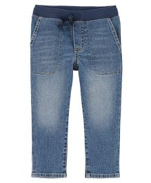 Carter's Pull-On Slub Straight-Fit Jeans - Blue
