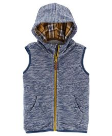 Carter's Zip-Up French Terry Vest - Blue