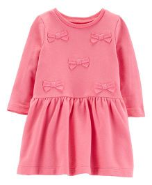 Carter's Bow French Terry Dress - Pink