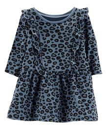 Carter's Cheetah Ruffle Dress - Blue