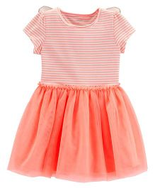 Carter's Neon Butterfly Tutu Dress - Peach