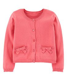 Carter's Full Sleeves Bow Cardigan - Pink