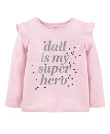 Carter's Dad Is My Super Hero Flutter Tee - Pink