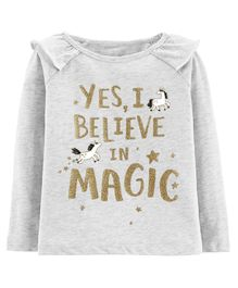 Carter's Glitter Magic Flutter Matchtastic Tee - Gray