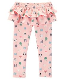 Carter's Character Ruffle French Terry Pants - Pink