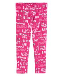 Carter's Girl Power Leggings - Pink
