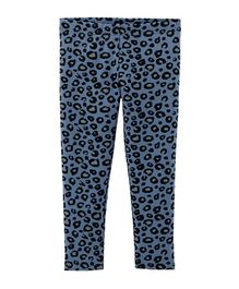 Carter's Leggings Cheetah Print - Blue