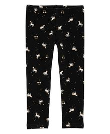 Carter's Unicorn Cosy Fleece Leggings - Black