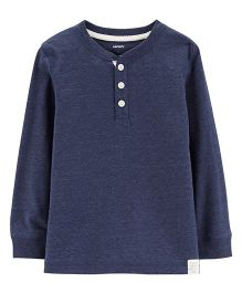 Carter's Snow Yarn Henley - Navy Blue