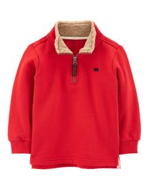 Carter's Half-Zip Fleece Pullover - Red