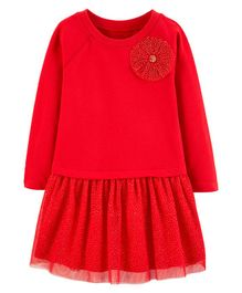 Carter's Bow Holiday Dress - Red