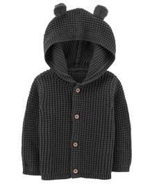 Carter's Button-Front Cardigan - Black