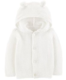 Carter's Button-Front Cardigan - White
