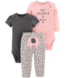 Carter's 3 Piece Little Character Set - Pink Black