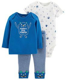 Carter's 3-Piece Little Character Set - Blue White