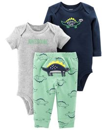 Carter's 3-Piece Little Character Set - Sea Green Navy Blue Grey