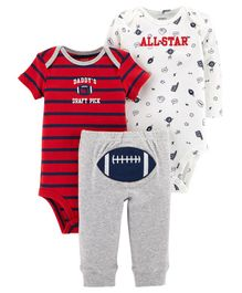 Carter's  3-Piece Little Character Set - Red White Grey