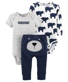 Carter's 3-Piece Little Character Set - Grey Blue