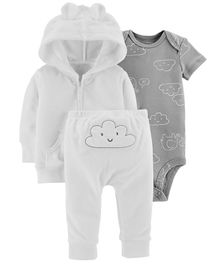 Carter's 3-Piece Little Jacket Set - White Grey