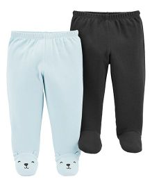 Carter's 2-Pack Babysoft Footed Pants - Blue Black